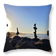 Sunrise Stacks Throw Pillow