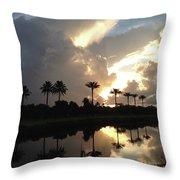 Sunrise Storm Throw Pillow