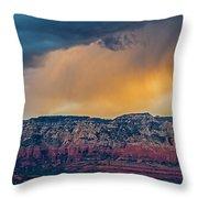Sunrise Storm Over Sedona Throw Pillow