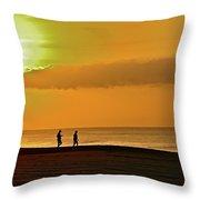 Sunrise Stroll Throw Pillow