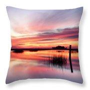 Sunrise Sunset Art Photo - Sailing By Jo Ann Tomaselli    Throw Pillow