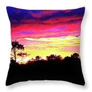 Sunrise Sunset Delight Or Warning Throw Pillow