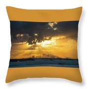 Sunrise Surf Spray Delray Beach Florida Throw Pillow