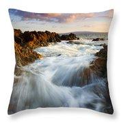Sunrise Surge Throw Pillow by Mike  Dawson
