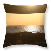 Sunrise Through The Pavilion Throw Pillow