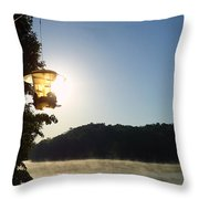Sunrise Thru The Feeder Throw Pillow