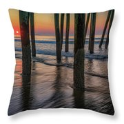 Sunrise Under The Pier Throw Pillow