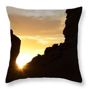 Sunrise Valley Of Fire Throw Pillow