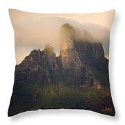 Sunrise View Of Bora Bora Island Throw Pillow