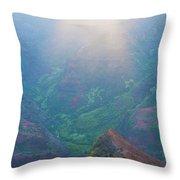 Sunrise Waimea Canyon Throw Pillow