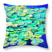 Sunrise Waterlilies Throw Pillow