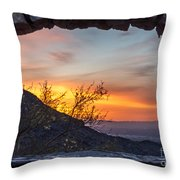 Sunrise Window - Phoenix Arizona Throw Pillow