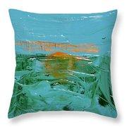 Sunrise With Gulls Throw Pillow