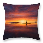Sunrise Yoga Throw Pillow