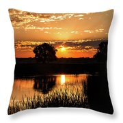 Sunrise's Crepuscular Rays Throw Pillow