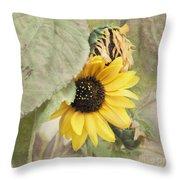 Last Sunflower Throw Pillow