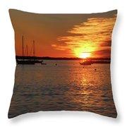 Sun's Up Provincetown Pier 3 Throw Pillow
