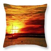 Sun's Up Provincetown Pier 4 Throw Pillow
