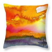 Sunset 02 Throw Pillow