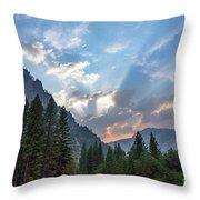Sunset 1 Yosemite  Throw Pillow