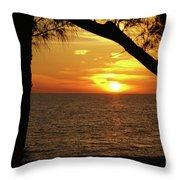 Sunset 2 Throw Pillow by Megan Cohen