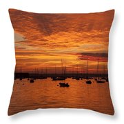 Sunset 4th Of July Throw Pillow