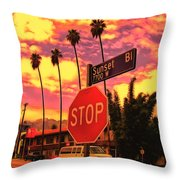 Sunset 7700w Throw Pillow