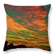 Sunset Above City After A Thunder-storm Throw Pillow