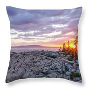 Sunset Acdia National Park  Throw Pillow