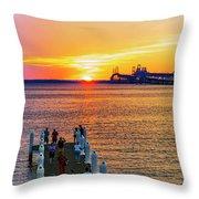 Sunset Across The Chesapeake Throw Pillow