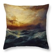 Sunset After A Storm Throw Pillow by Thomas Moran