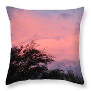 Sunset After Storm Throw Pillow