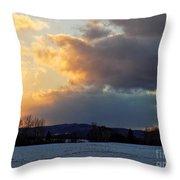 Sunset After Wild Day Throw Pillow