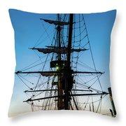 Sunset Ahoy Throw Pillow