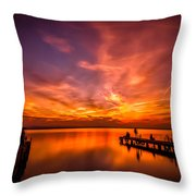 Sunset Albufera Throw Pillow
