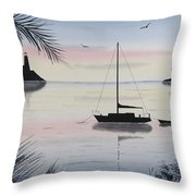 Sunset Anchorage 4 Throw Pillow