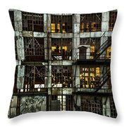 Sunset And Broken Glass The Fort William Starch Company Throw Pillow