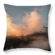 Sunset And Clouds Over The Summit Throw Pillow