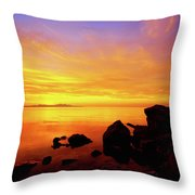 Sunset And Fire Throw Pillow