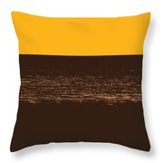 Sunset And Lake Michigan Throw Pillow
