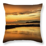 Sunset And Reflection Throw Pillow