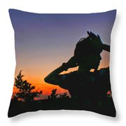 Sunset And Shadows Throw Pillow