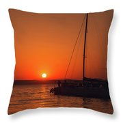 Sunset And Silhouette Throw Pillow