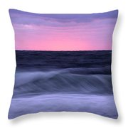 Sunset And Storm Surf On The Gulf Throw Pillow