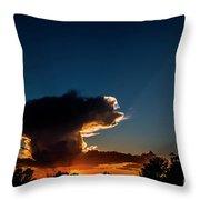 Sunset Anvil Throw Pillow