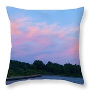 Sunset Aquidneck Island Throw Pillow