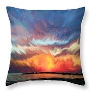 Sunset Art Landscape Throw Pillow