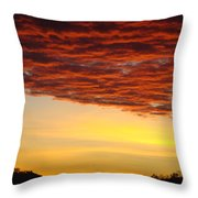 Sunset Art Prints Canvas Orange Clouds Twilight Sky Baslee Troutman Throw Pillow