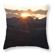 Sunset At 12.000 Feet Throw Pillow