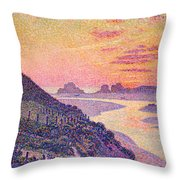 Sunset At Ambleteuse Pas-de-calais Throw Pillow by Theo van Rysselberghe